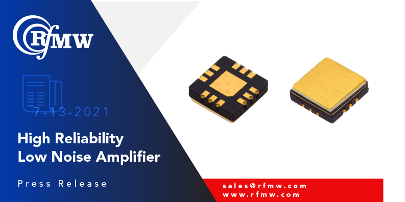 KCB Solutions KA107C LNA provides 20 dB gain, 1.5 dB noise figure and 38 dBm OIP3 from 1.3 to 3.0 GHz