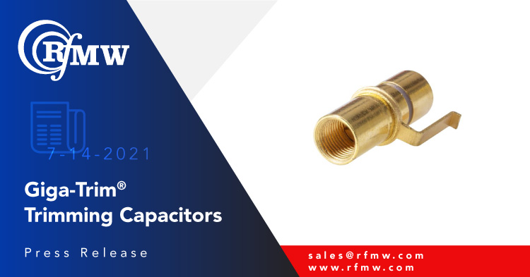 The Knowles 27273 Giga-Trim trimmer capacitors has a capacitance range from 0.6 - 4.5 pF with up to 8 turns and a working voltage of 500 VDC.