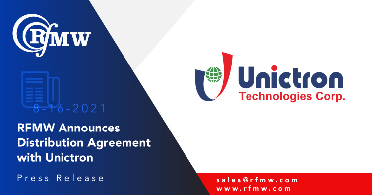 RFMW and Unictron Announce Distribution Agreement