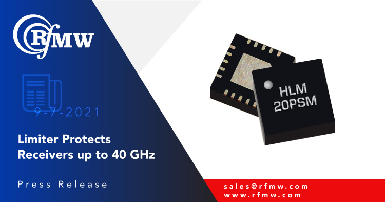Marki Microwave's HLM-40PSM, GaAs, Schottky diode, signal limiter provides 11 to 19 dBm flat leakage with low insertion loss and low return loss from DC through Ka band.