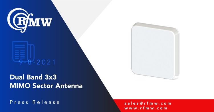 The Southwest Antennas' 1055-404 dual-band, directional MIMO sector antenna covers 1.7 to 2.5 GHz and 1.35 to 1.9 GHz