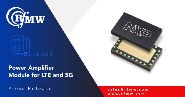 The NXP A3M39TL039 is a 28 V, 50-ohm matched integrated Doherty LDMOS Multi-Chip Module covering the cellular infrastructure bands between 3700-3980 MHz.
