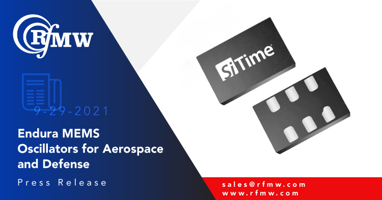 SiTime EnduraTM MEMS-based SiT8944 oscillators are among the most reliable and highest quality oscillators for high-reliability aerospace and defense applications.