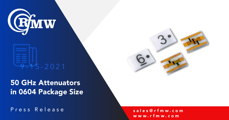 The Smiths Interconnect TSX series chip attenuators span DC to 50 GHz with 1 to 3 Watts of input power handling capability