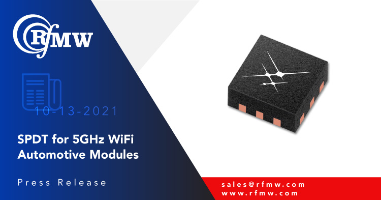 The Skyworks SKYA21038 is a single-pole, double-throw (SPDT) switch intended for mode switching in WLAN applications ranging from 0.9 to 6 GHz.